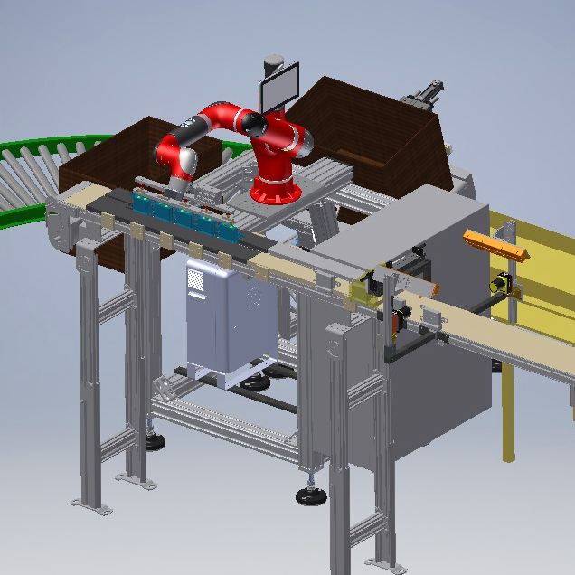 Collaborative robot packaging cell
