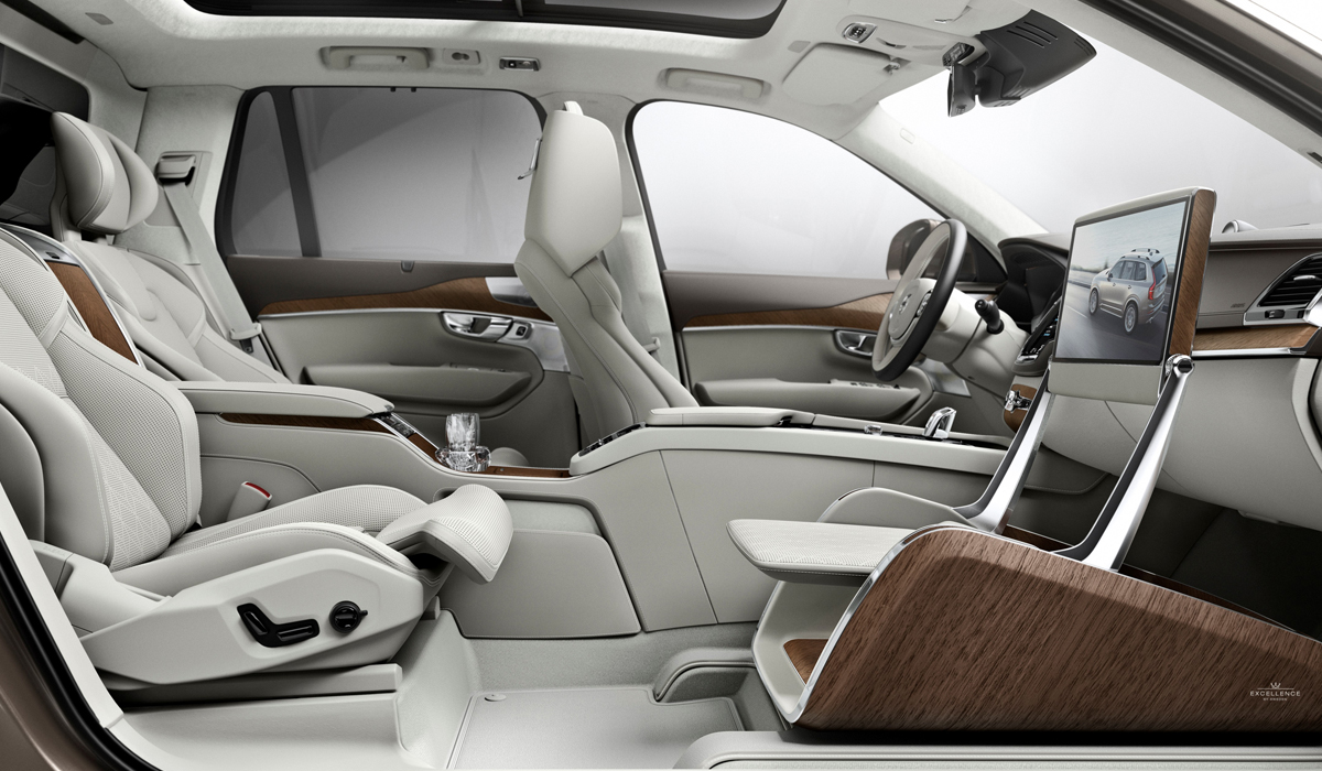 luxus pur im volvo xc90 excellence. Black Bedroom Furniture Sets. Home Design Ideas