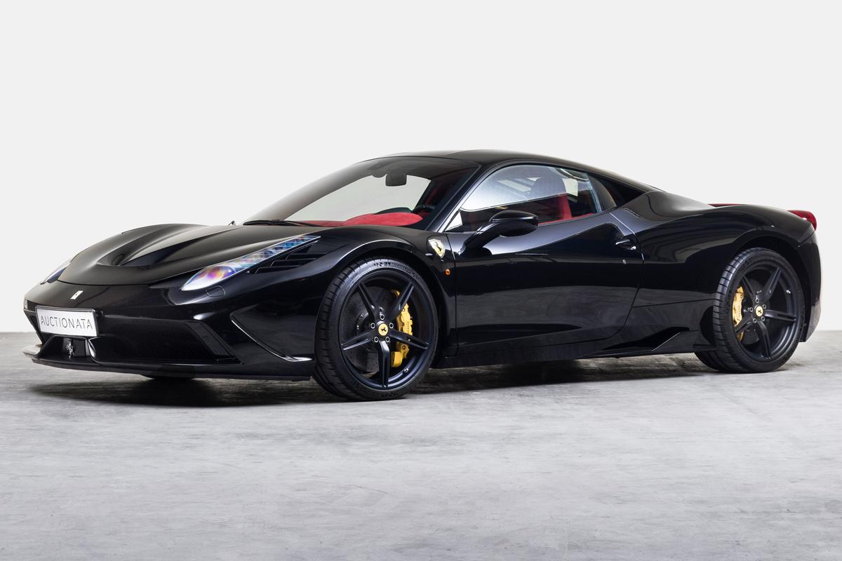 versteigerung auktion ferrari 458 speciale preis verkauf schweiz sportwagen