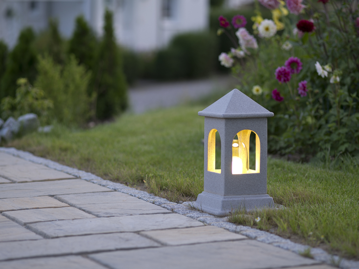 Outdoor Leuchte Beleuchtung Lichthaus Garten Dekoration Keramik