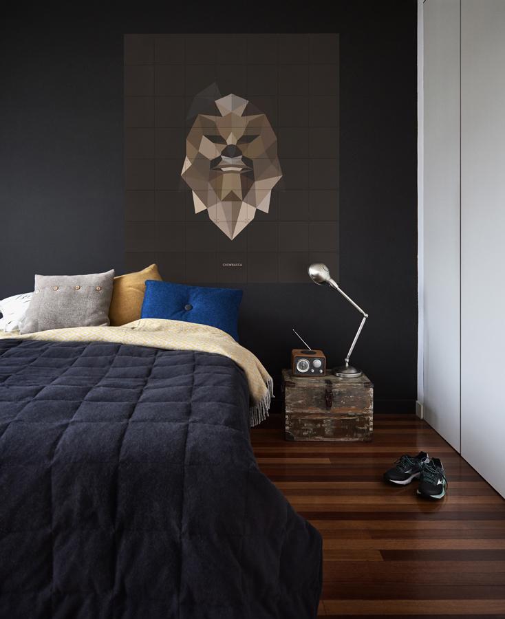 Schlafzimmer Einrichtung Wand Starwars IXXI