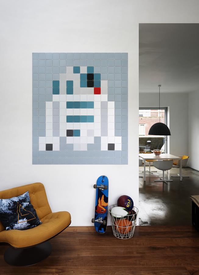 R2-D2 Starwars Wanddeko Diele IXXI