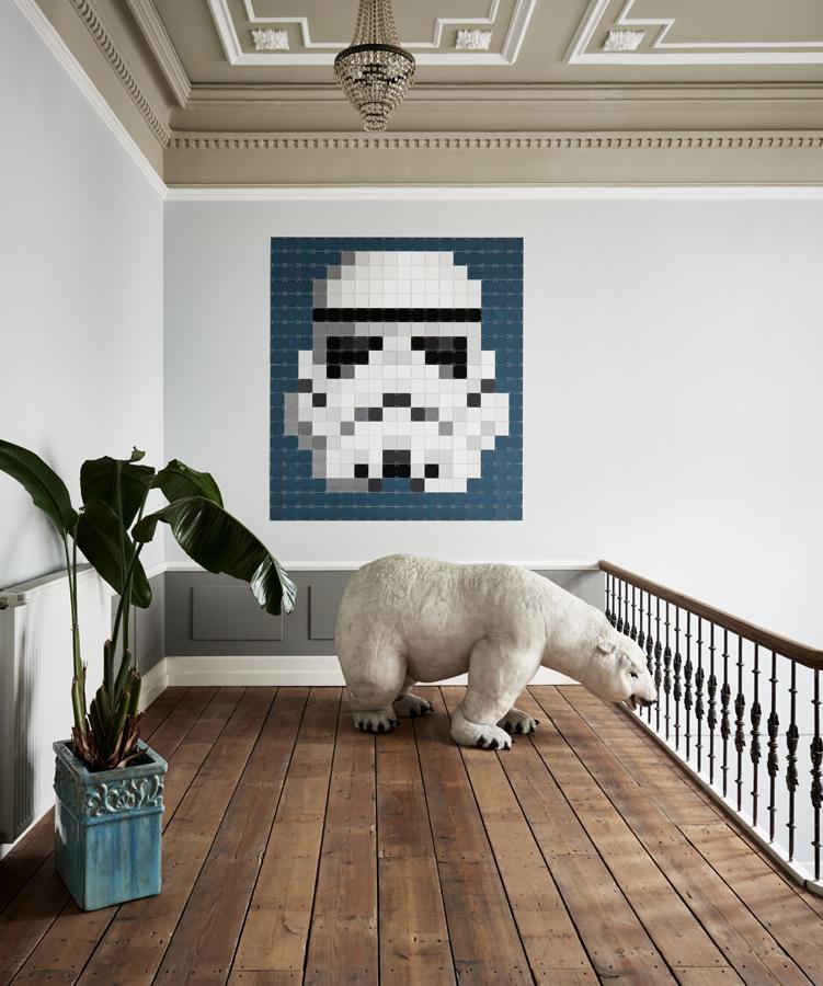Starwars Strumtruppler Pixel Wanddekoration IXXI