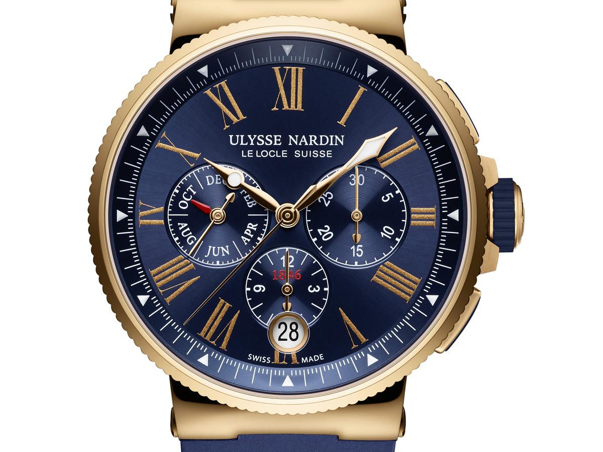 ulysse nardin marine chronograph annual calendar uhr uhren luxusuhren hersteller