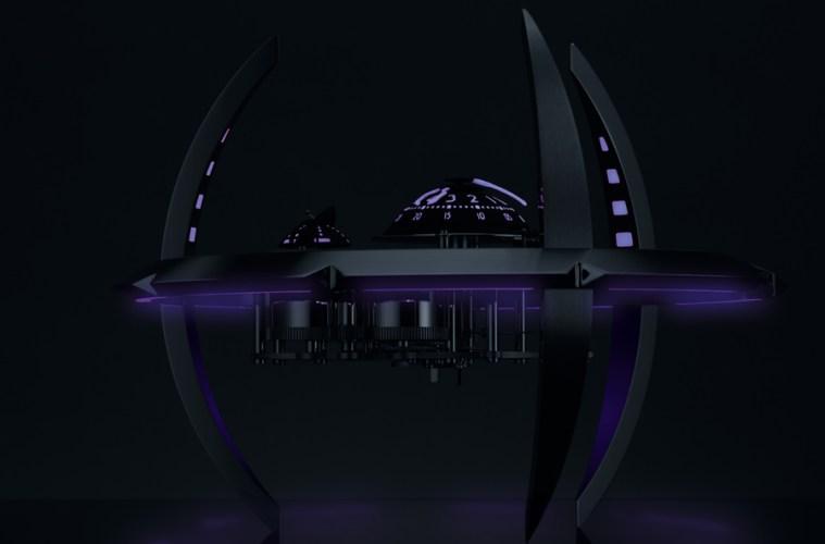 mb&f uhr tischuhr maschine zeitmaschine uhren