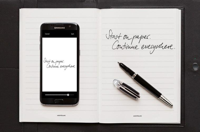 montblanc augmented paper notizen handgeschrieben schreiben übertragen digital