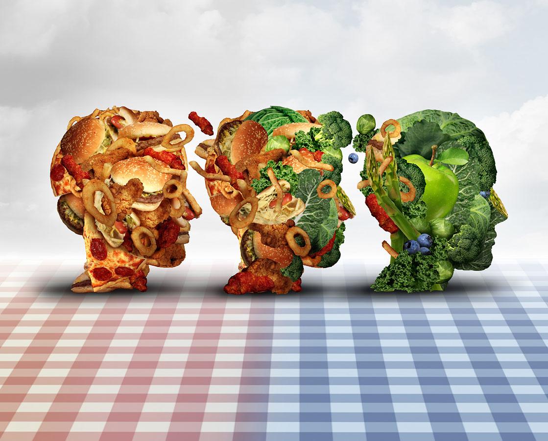 Weg von industrieller Nahrung