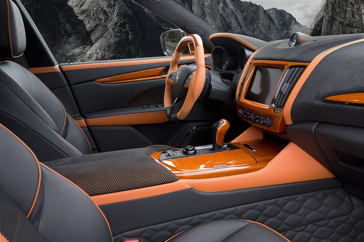 mansory maserati levante suv luxus veredelung carbon motor interieur innenraum