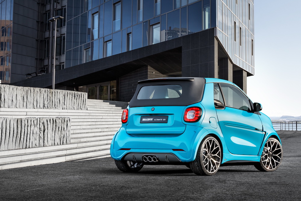 brabus ultimate 125 smart fortwo cabrio limited edition models