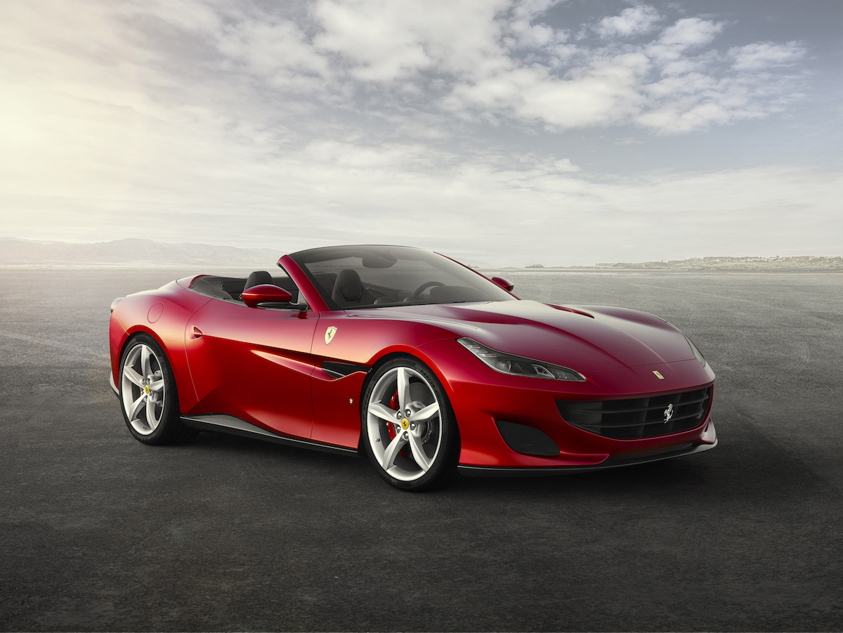 ferrari portofino new car convertible 8-cylinder most powerful hard top