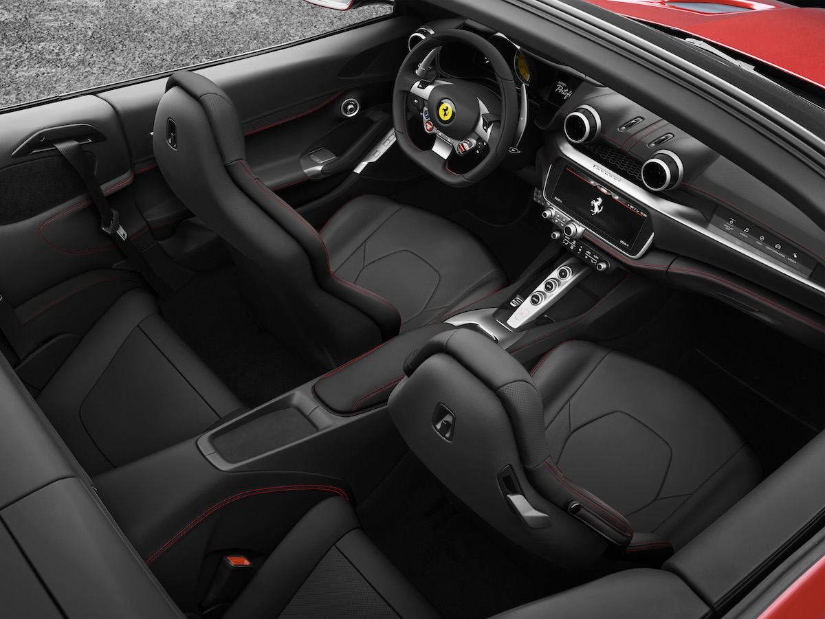 ferrari portofino cabrio cabriolet hard-top gt v8 motoren turbo achtzylinder beschleunigung technologie cockpit