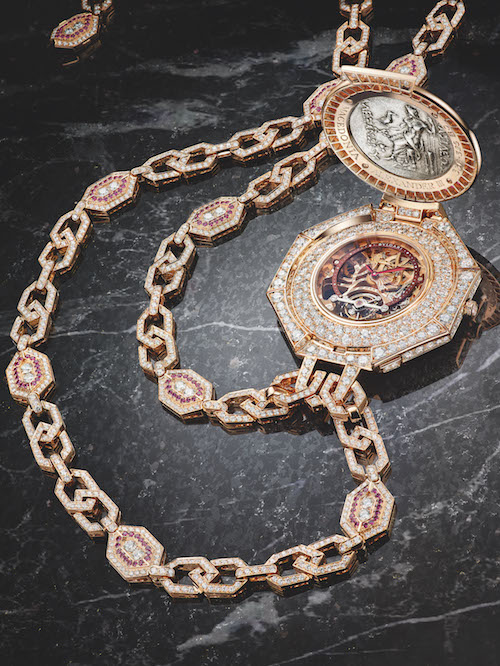 bulgari luxury watches watch timepieces high jewellery timepieces unique rare pink gold pendant