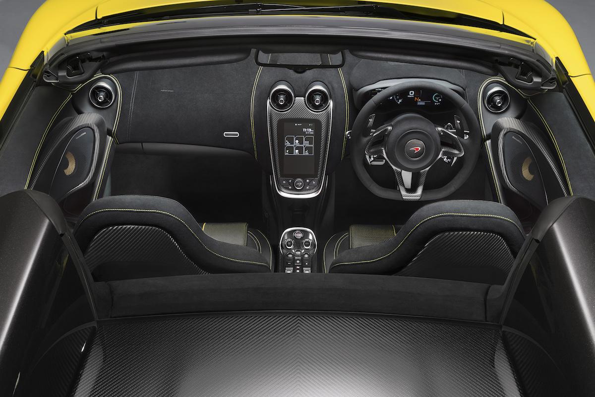 mclaren 570s spider sportwagen supersportwagen modelle modellversionen cabriolet coupe innenraum