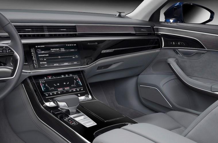 bang & olufsen audi a8 luxury sedan sound soundsystem unique brand new loudspeakers interior