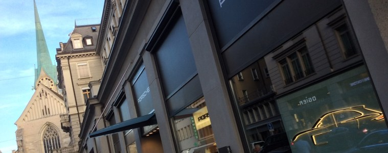 porsche exclusive manufaktur sportwagen limitiert veredelt modelle sportlimousinen individualisiert store shop luxus luxusmarke zürich paradeplatz pop-up-store