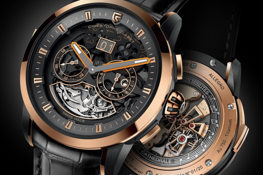 christophe claret luxury watches watch timepieces switzerland red-gold white-gold titanium new limited diamonds sapphires