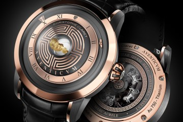 luxury watch model aventicum timepieces swiss switzerland roman numerals limited edition red-gold titanium palladium white-gold