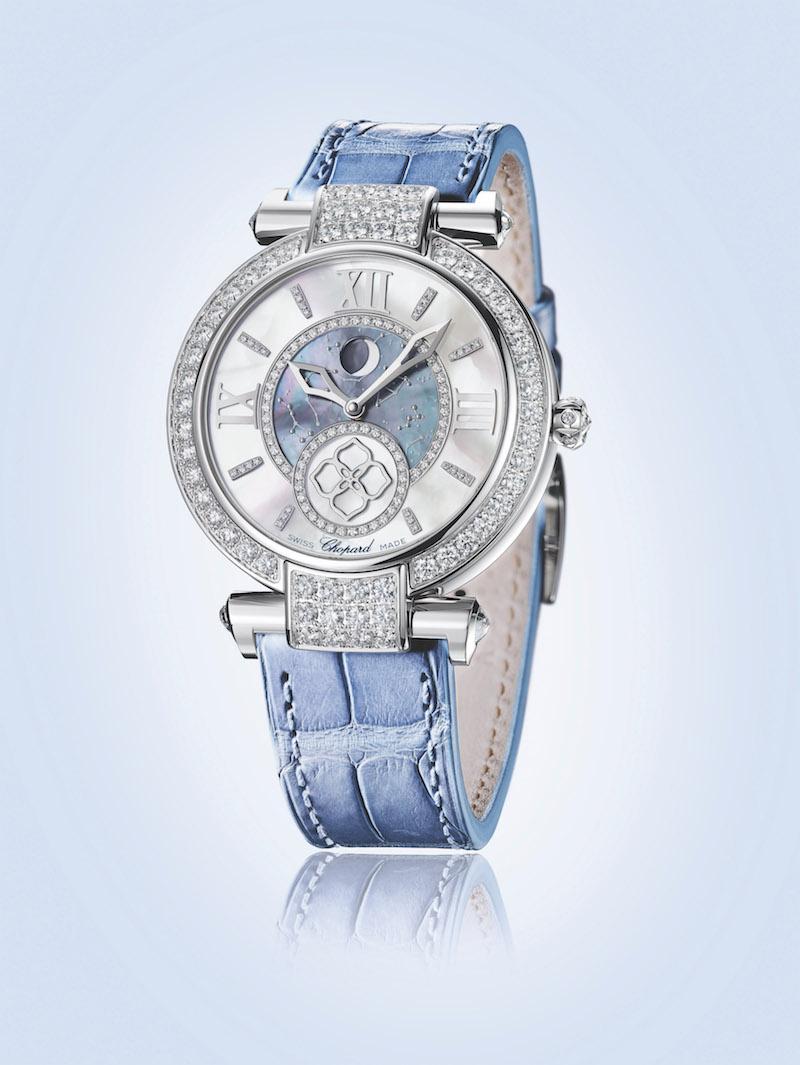 chopard schweiz schweizer luxusuhren damen frauen manufaktur hersteller unternehmen luxus-uhren weissgold armband alligatorleder automatik