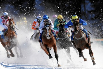 white turf st. moritz 2018 pferderennen auf schnee winter pferde events schweiz pferderennsport deutschland