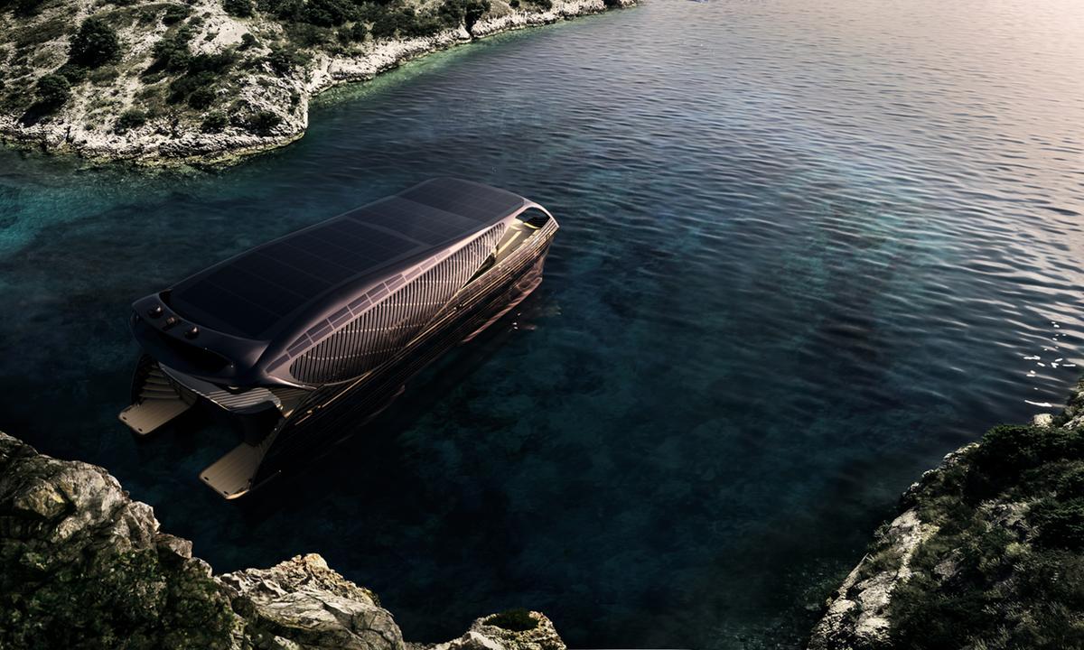 luxury luxurious yacht yachts superyachts electric energy sun solar ship boat mobility