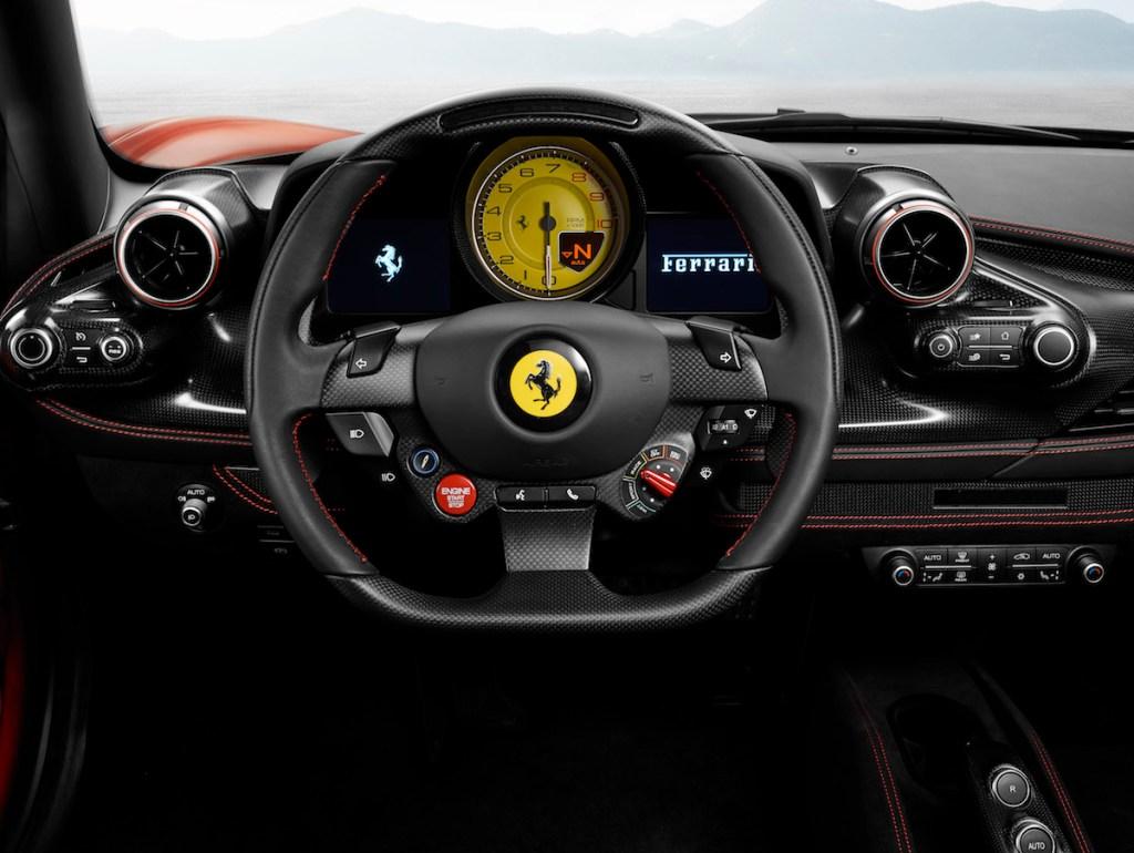 ferrari f8 tributo new model unique turbo turbo-charged models steering-wheel