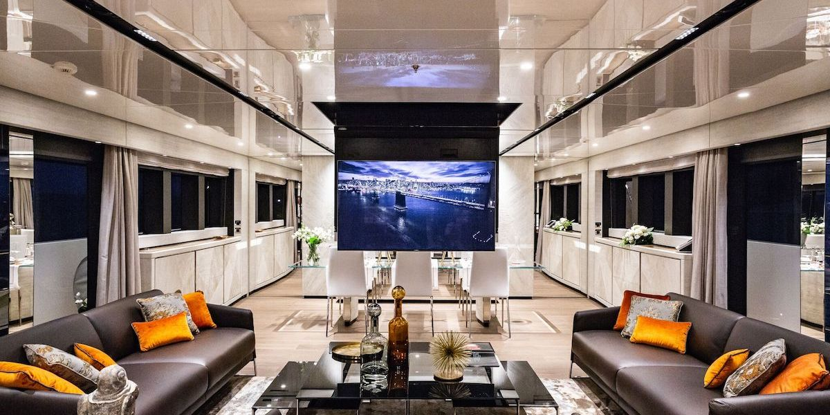 videoworks yacht yachts luxury luxurious audio video internet systems entertainment company