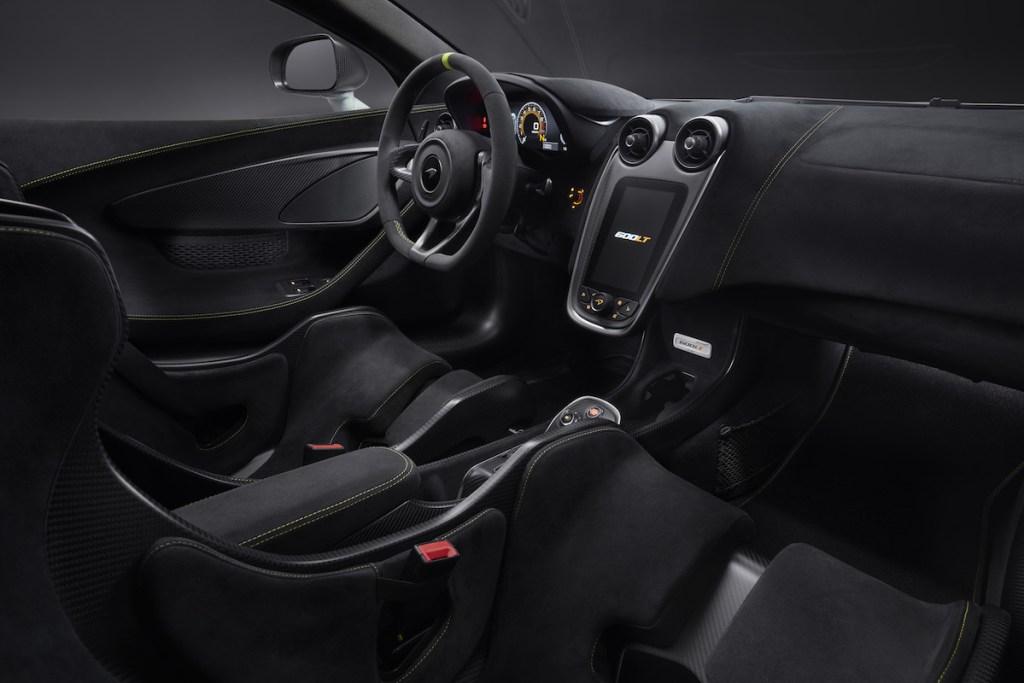 mclaren 600lt spider mso modelle neu neuheiten sportwagen schweiz deutschland autosalon genf 2019 automobilsalon innenraum cockpit