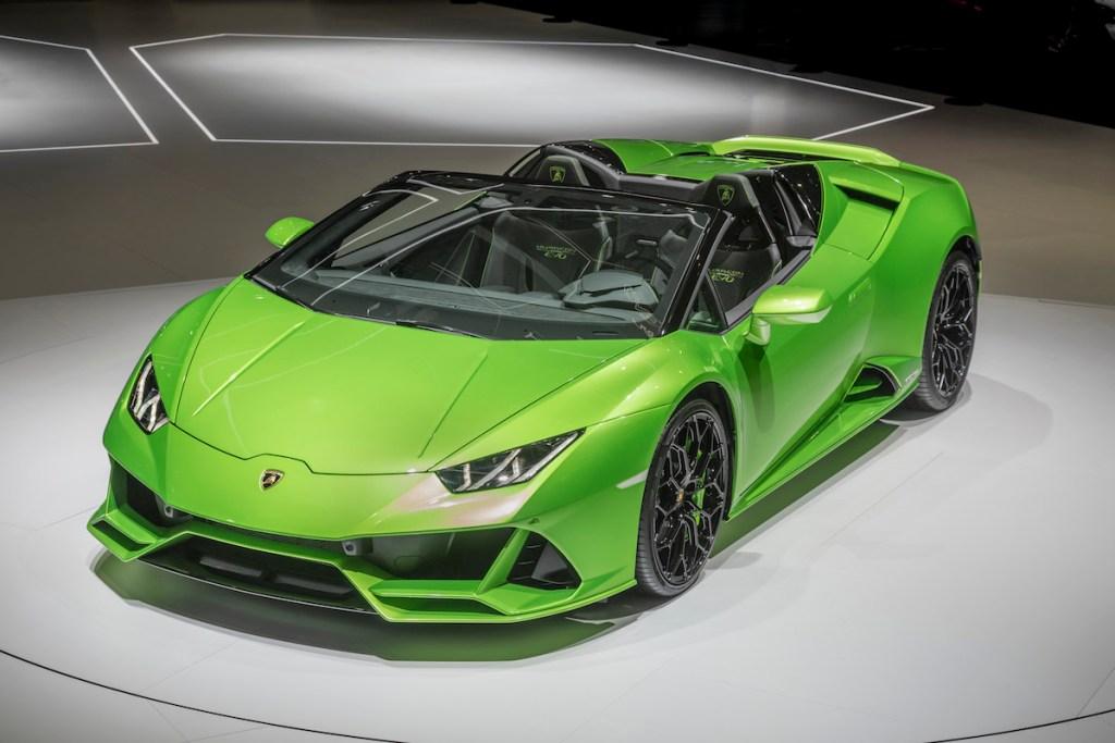 lamborghini-huracan-evo-spyder lamborghini huracan evo spyder modelle neuheiten cabrio cabriolet autosalon automobilsalon genf 2019