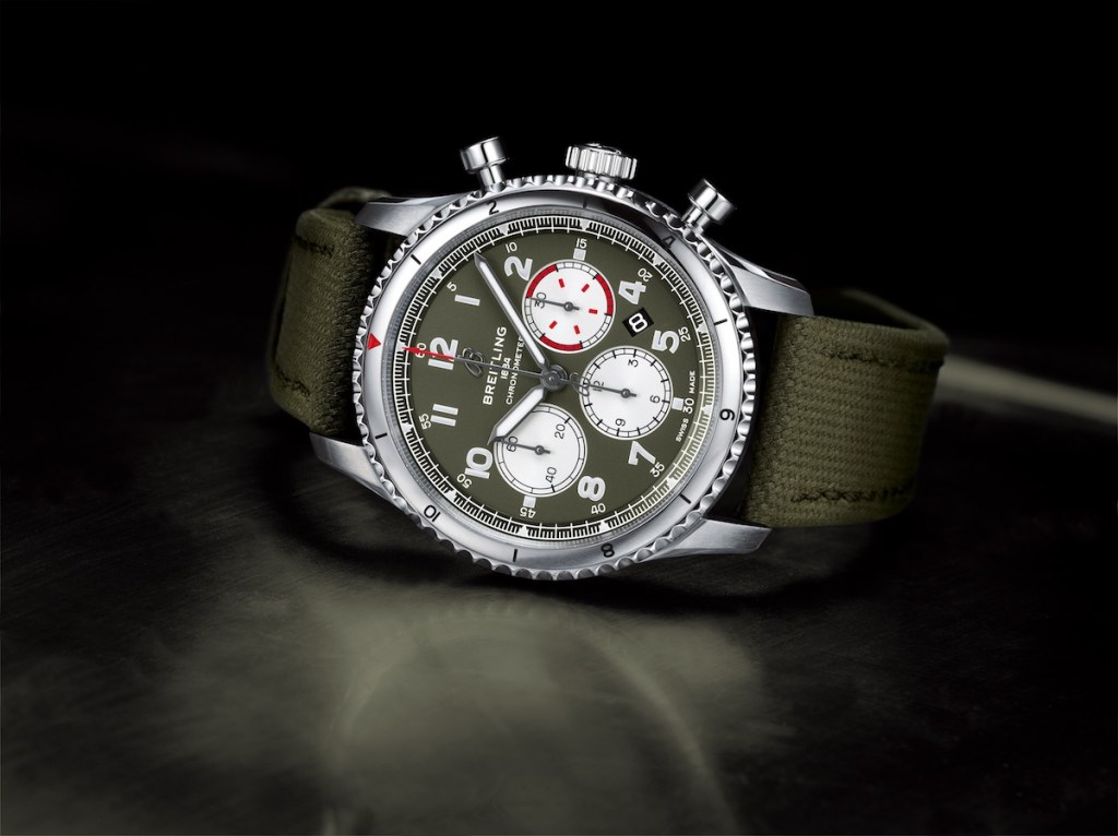 breitling aviator chronographen herrenuhren luxusuhren schweiz hersteller fliegeruhren pilotenuhren edelstahl chronograph