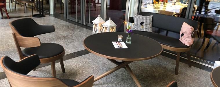 Lounge im Lichthof des Restaurants Bärengasse