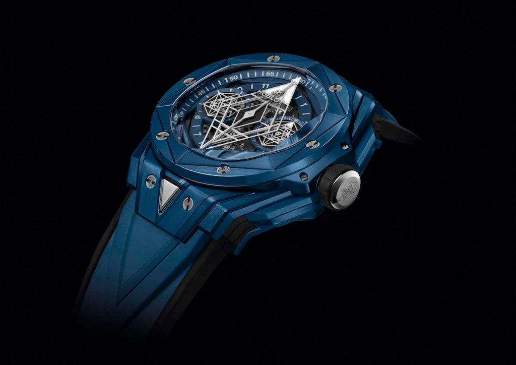 hublot big bang sang bleu limited edition ceramic watches chronograph