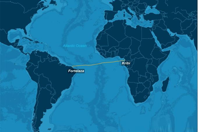 Novo cabo submarino ligando Brasil à África entra em operação