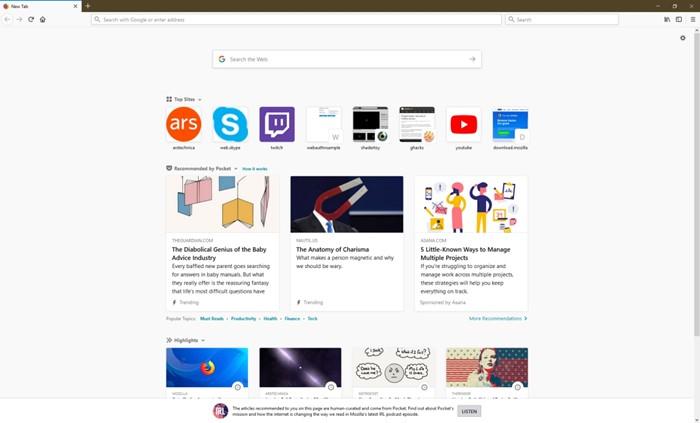 Firefox tem recurso que bloqueia sites adultos ao abrir novas abas