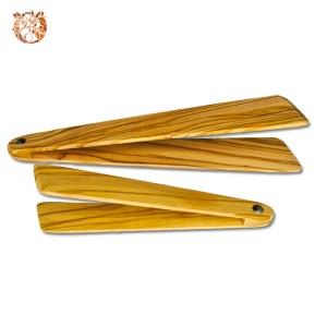 Pince à toasts en bois d'olivier