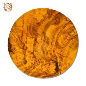 Planche ronde en bois d'olivier