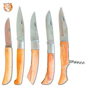 Couteau de poche pliant en bois d'olivier