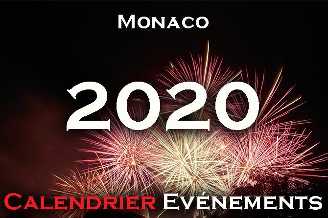 calendrier des evenements monaco 2020