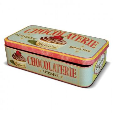 boite metal pour tablettes de chocolat lady cupcake natives deco retro et vintage provence aromes tendance sud