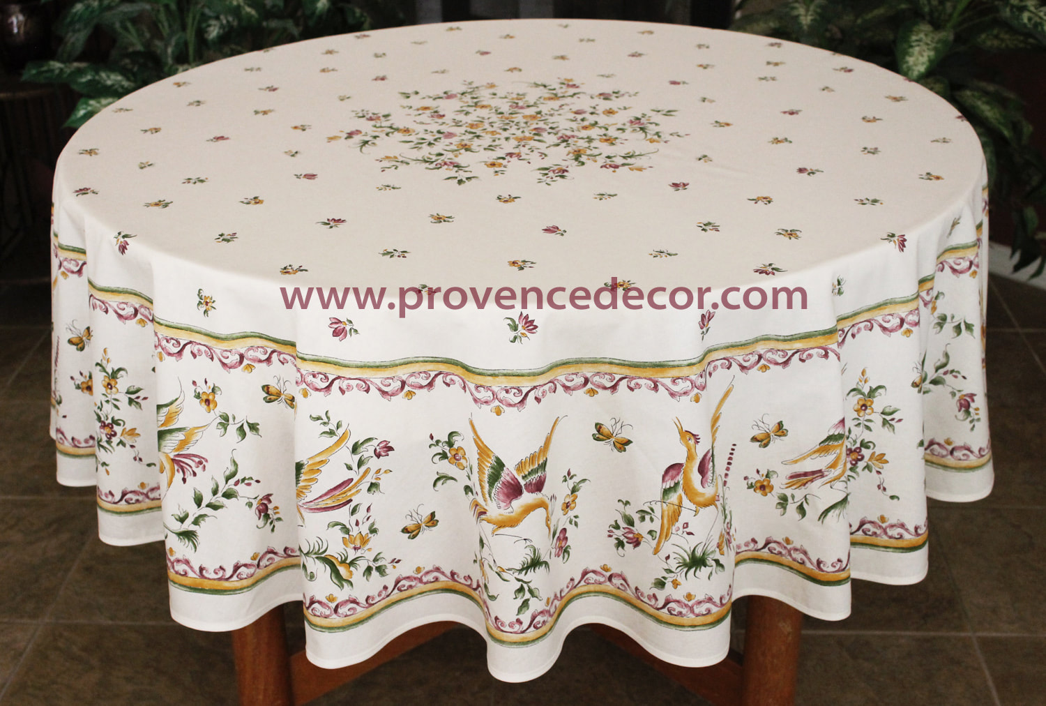 moustier burgundy acrylic cotton coated french tablecloths french oilcloth spill proof easy wipe off laminated round rectangle table cover indoor