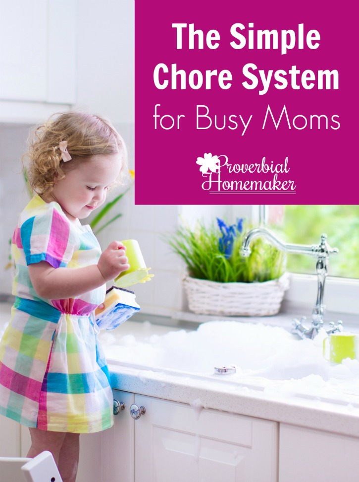 Want to teach your children to help around the house? Complicated chore charts not working for you? You'll love this simple system for busy moms!