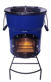A Central Steel Cylinder Firebox Is Insulated With Ceramic Wool And Around That Goes The Outer Painted Casing Which Gets Warm But Not Too Hot To