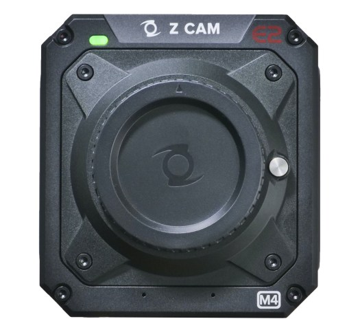 Z Cam E2-M4 front, MFT mount, with body cap in place