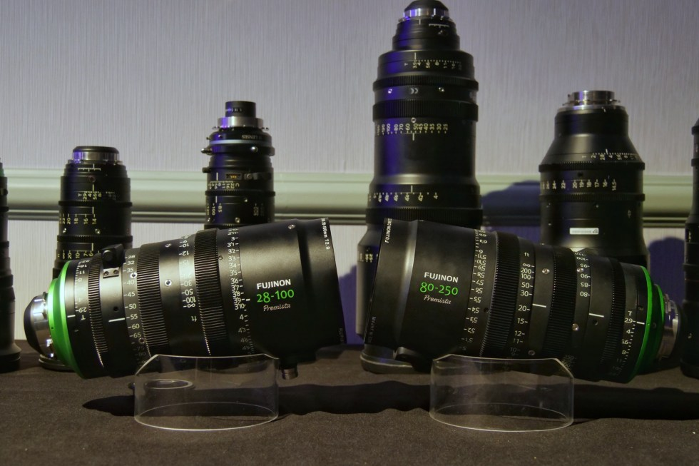 Premista 28-100mm zoom and 80-250mm mock-up FUJIFILM