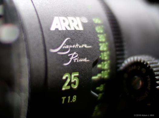 ARRI Signature primes are T1.8 large-format lenses