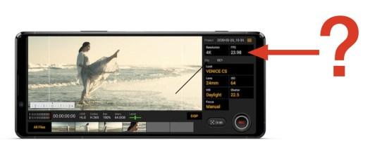 Sony Xperia 1 II's Cinema Pro: non-integer framerates? 4