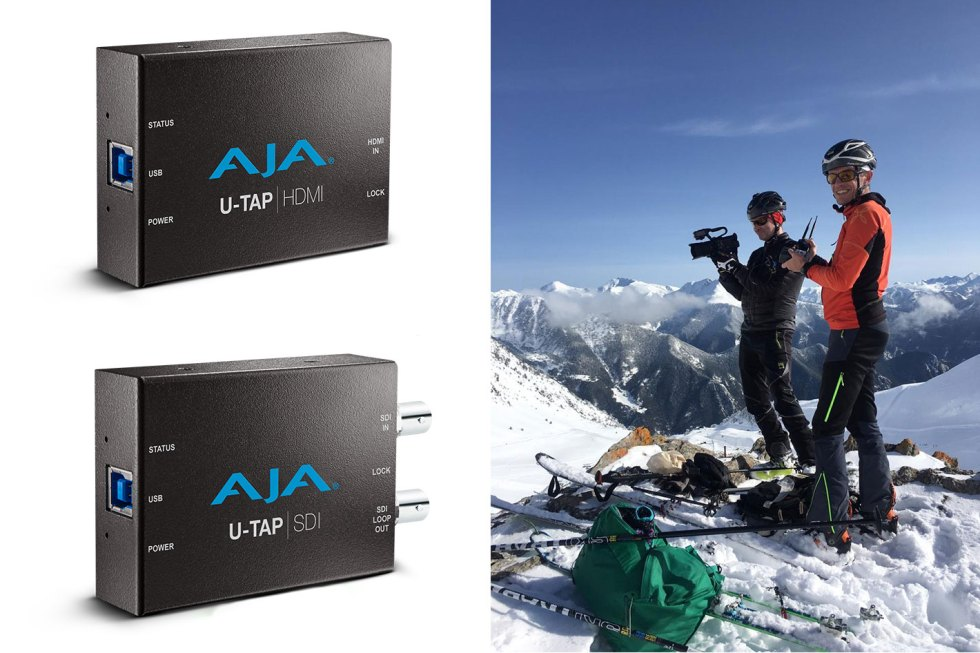 AJA solutions used to stream ski mountaineering