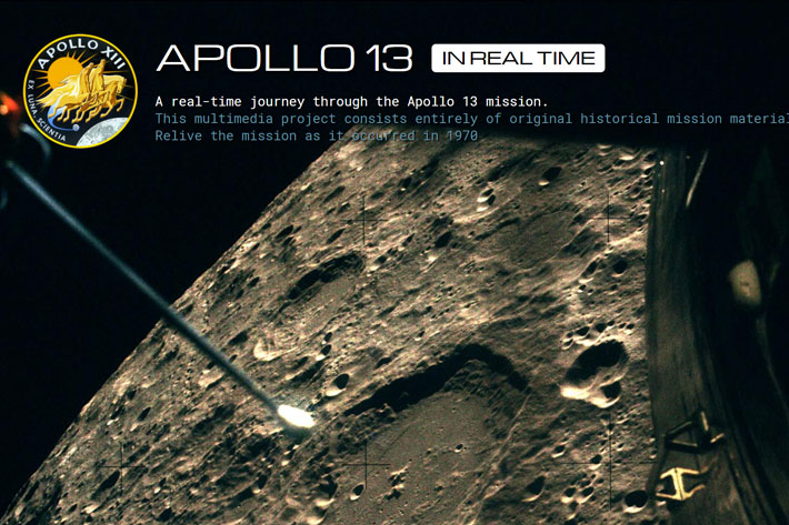 Apollo 13: films and audio allows us to relive the mission in real time