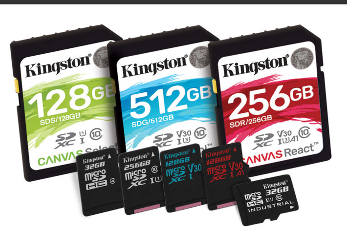 New Kingston Canvas Plust SD cards for 8K production action cams and drones