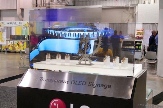LG Transparent OLED display