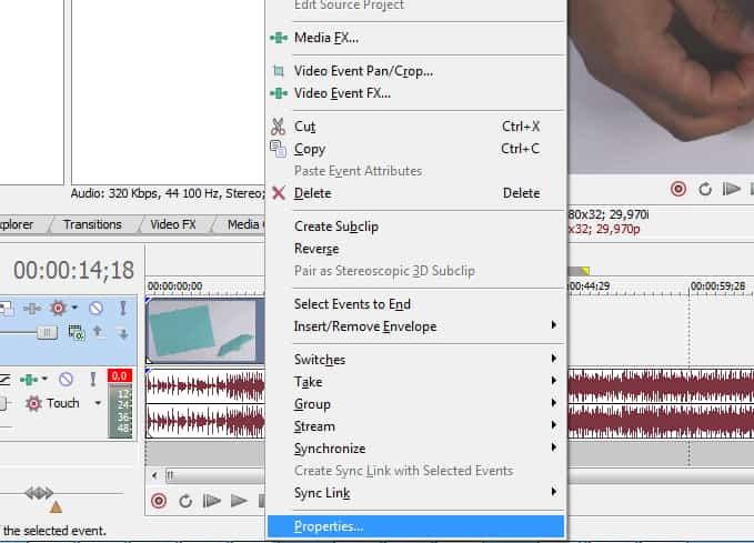 How to slow down and speed up the video in Sony Vegas